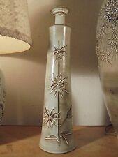 Céramique Vintage 50 Rare Soliflore Scarifié Chardons Hugette BESSONE Vallauris
