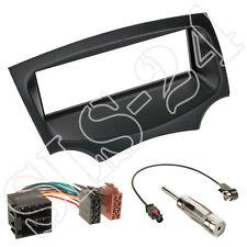 DIN Radioblende Schwarz Einbaurahmen + ISO KFZ Adapter für FORD KA RU8 ab09 Set
