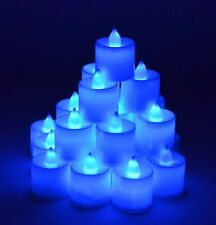Set of 24 Battery Flameless & Smokeless Blue Color LED Tealight Candles