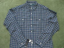 POLO RALPH LAUREN Men's Long-Sleeve Checked Linen-Blend Workshirt L