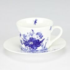 NEW Chinoiserie Blue white bird flower Tea set cup saucer high tea bone china