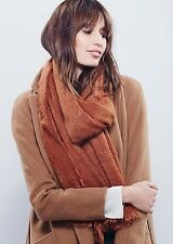 NEW Free People Koda Brushed Scarf Oversized Wrap in Rust
