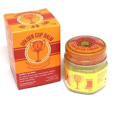 Balm Herbal Pain Relief Massage Thai Aroma Original Yellow Ointment Golden Cup