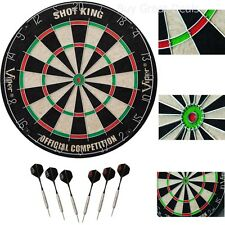 Viper Shot Dartboard King Bristle Darts Official Game Fiber Sized Dart Board NEW