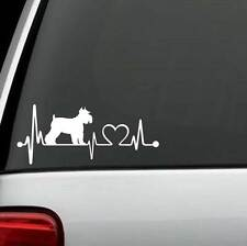 K1036 Schnauzer Heartbeat© Dog Decal Sticker Auto Window Art