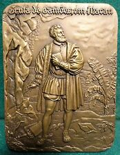 POET CAMÕES GROTTO IN MACAU / SHIPWRECK 68x90mm 1972 BRONZE MEDAL by C Antunes