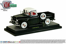 M2 MACHINES 1958 GMC STEPSIDE TRUCK GLOSS BLACK DOVER WHITE 1/24 CAR 40300-50A