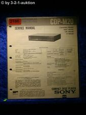 Sony Service Manual CDP M20 CD Player (#2186)