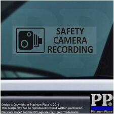 5 x SAFETY Camera Recording Warning Stickers-BLACK-CCTV Sign-Car,Taxi,Cab Van
