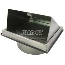Stainless Steel Cooker Hood Extractor Outside Wall Air Vent Cowl Hood Outlet 5""