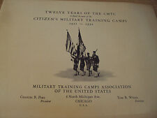 """VTG 1933 """"12 YEARS of the CMTC""""~Citizens' MILITARY Training CAMPS~MacArthur~"""