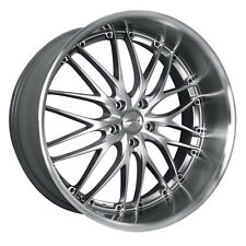 MRR GT1 18x8.5 5x114.3 Hyper Silver Wheels Fits Mazda Speed 3 Eclipse Tc Rx8