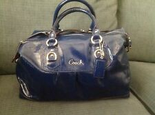 Coach authentic Cobalt Blue Patent Leather purse