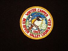 BOY SCOUT   RED RIVER VALLEY COUNCIL  1963  WINTER CAMPER  PP    ND