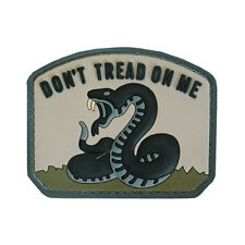 NEW 3D PVC Don't Tread On Me Military Army Tactical Velcro Morale Patch Urban