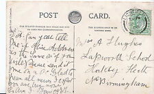 Genealogy Postcard - Family History - Hughes - Hockley Heath - Birmingham  U3348