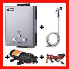 COUNTRY COMFORT LPG GAS HOT WATER HEATER PORTABLE COMBO CAMPING, 4WD, FISHING,