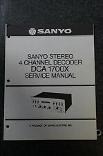 Sanyo DCA 1700X Service Manual