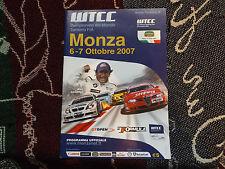 2007 MONZA programma 7/10/07-WTCC FIA WORLD TOURING CAR CHAMPIONSHIP