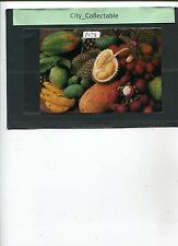 P278 # MALAYSIA USED PICTURE POST CARD * MALAYSIAN FRUITS RAMBUTAN ETC