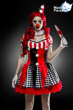 Donna Carnevale Halloween Horror Clown Set Complete Costume S–l 36 38 40