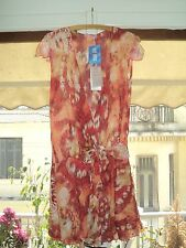 attrattivo WRAP DRESS RED MULTI-COLOR*SIZE L-UK 12/14*2 PIECES*POLYESTER