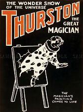 THURSTON 9 THE MAGICIAN VINTAGE ADVERTISING REPRO POSTER ART PRINT 566PYLV