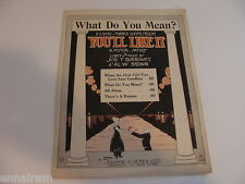 What Do You Mean 1919 sheet music satire You'll Like It Burrowes & Brown