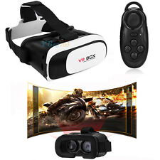 VR BOX 2.0 Version Virtual Reality 3D Glasses Headmount + Bluetooth Remote 3S5