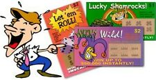 (100) Fake Lotto Tickets Prank Joke Lottery - Funny Novelty Gag ~ wholesale