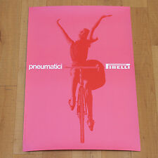 PNEUMATICI PIRELLI poster affiche Advertising Bike Pink Italy Massimo Vignelli
