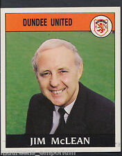 Panini Football 1989 Sticker - No 382 - Dundee United - Jim McLean (D1)