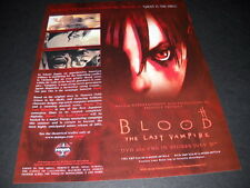 BLOOD The Last Vampire Vintage ANIME Promo Ad mint condition