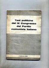 TESI POLITICHE DEL XI CONGRESSO DEL PARTITO COMUNISTA ITALIANO # 1960