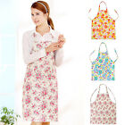 Waterproof PVC Apron Flower Cooking Bib With Pocket Home Kitchen Restaurant Cook