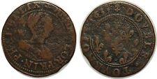 PHALSBOURG ET DE LIXHEIM - HENRIETTE DE LORRAINE Double tournois 1633
