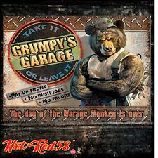 American Hot Rod Grumpys Garage Vintage Advertising Metal Tin Wall Signs UK