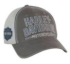 Harley-Davidson Men's Baseball Cap, Embroidered Bar & Shield Stretch Fit BC51670