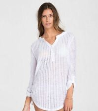 2016 NWT WOMENS BILLABONG LOVECHILD SWIM COVER UP DRESS M white knit