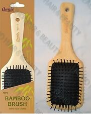 Annie 100% Hand Crafted Bamboo Square Paddle Cushion Hair Brush Water &Oil Proof