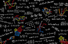 Framed Print - Workings Out of a Mathematician (Picture Equation Physics Art)