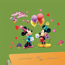 Cute Mickey Minnie Mouse kids Room Home Decor Wall Stickers Cartoon Wall Decals