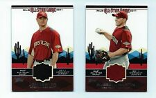 2011 Toops  BASEBALL All-Star Stitches 2 Card Lot Russell Martin Jon Lester