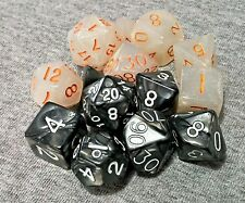 2 Sets of 7 Premium Polyhedral Dice for RPG Dungeons & Dragons Pathfinder games