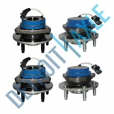 NEW 4 pc Set: 2 Rear + 2 Front Wheel Hub & Bearing Assembly Cadillac 2WD w/ ABS