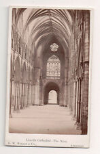 Vintage CDV The Knave Lincoln Cathedral England G.W. Wilson Ph Aberdeen