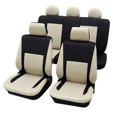 Black & Beige Elegant Car Seat Cover set - For Fiat 500 2007 Onwards