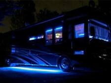 15Ft 12V Rv Motorhome Trailer Blue LED Under Glow Waterproof Light Bulb Strip