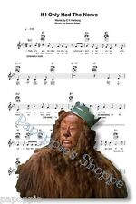 Fabric Block Sheet Music Cowardly Lion Wizard of Oz