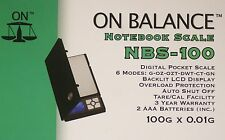 On Balance, Digital Notebook Scale [ Max: 100gr Accuracy: 0.01gr ] Model: NBS100